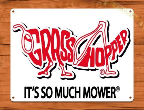 "TIN SIGN /""Grasshopper Lawn Mowers/"" Oil Garage Vintage Wall Decor"