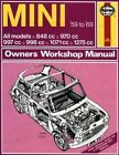 Mini Owner's Workshop Manual by John S. Mead (Hardback, 1988)