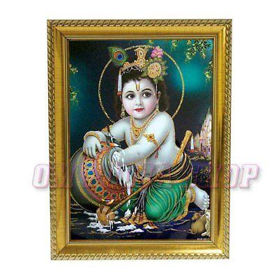 Bal Krishna in Photo Frame Lord Krishna Baby Krishna God Krishna Yashoda  Maa | eBay