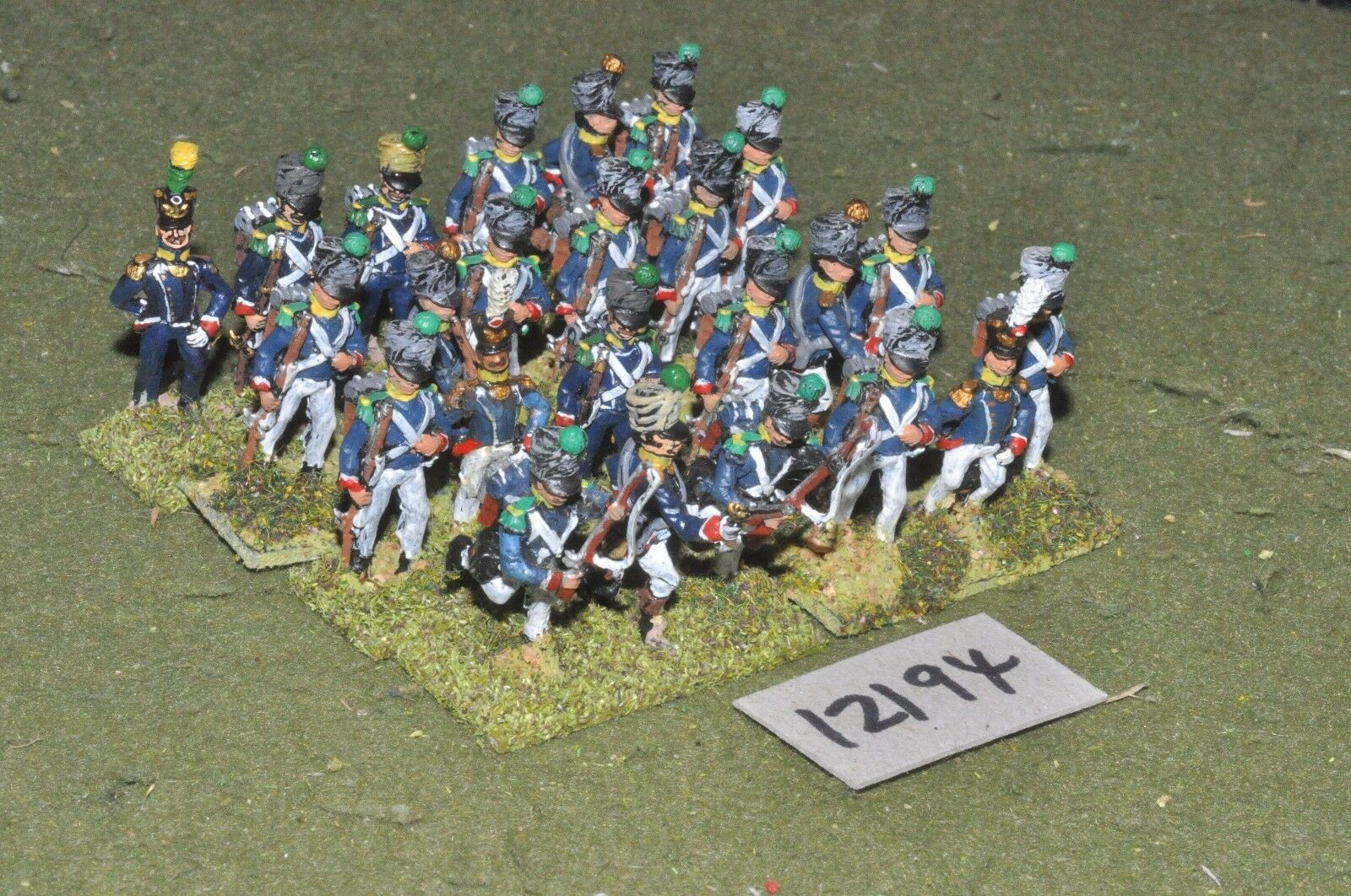 25mm napoleonic   french - infantry 24 figs - inf (12194)