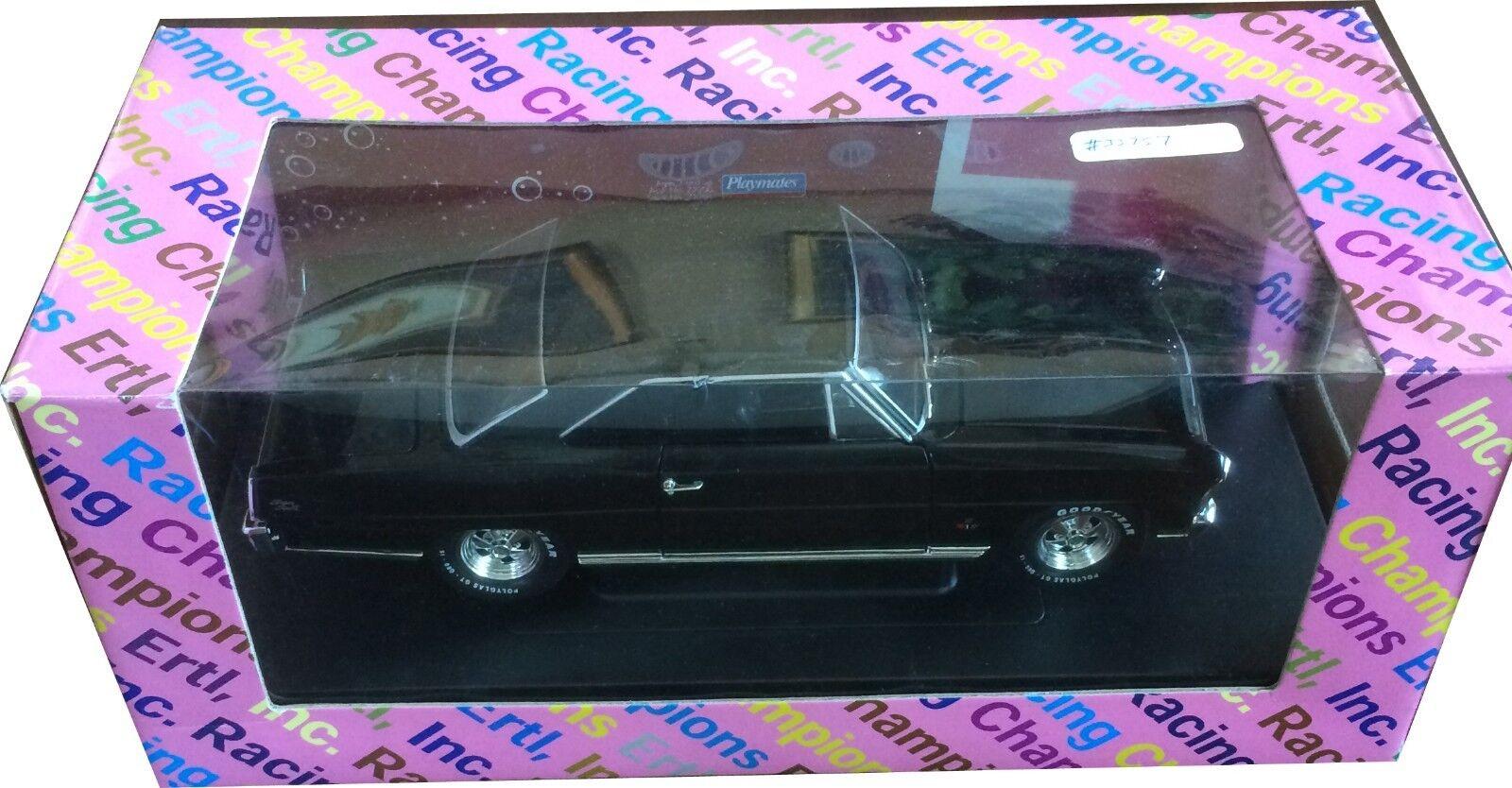 garantía de crédito 1 18 el projootipo de 66 Chevy Nova Negro con con con cajas de prueba por Ertl  El nuevo outlet de marcas online.