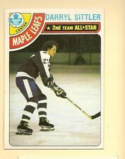 1978 - 79 Topps Hockey Set DARRYL SITTLER Card