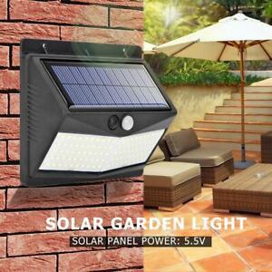 100LED-Solare-Sensore-Movimento-da-Parete-Lampada-Giardino-Solare-De