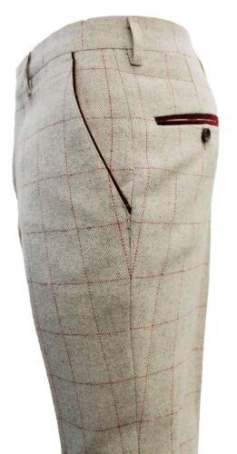Da Uomo Designer Pantaloni MARC DARCY Herringbone in tweed CHECKED lavoro WEDDING Wear