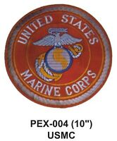 Usmc(ii) Embroidered Military Extra Large Patch Officially Licensed (10)