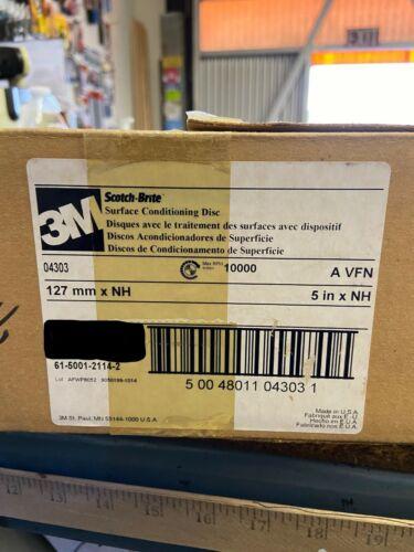 "3m 04303 Scotch-Brite Surface Conditioning Disc A VFN 5/"" x NH 10 Discs//PKG"