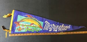 Marine-land-Of-The-Pacific-Felt-Pennant-Combine-Shipping