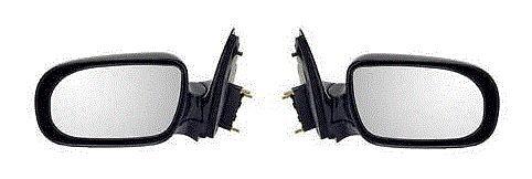 Fits 97-05 Chevrolet Venture Door Mirror Pair Set Both Manual Black Silhoutte