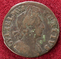 GB Halfpenny 1699 King William III 3rd Issue (B0903)