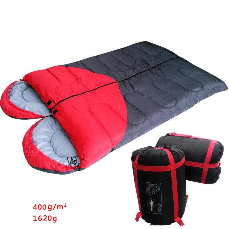Outdoor Double Sleeping Bag Hiking Camping Envelope Waterproof
