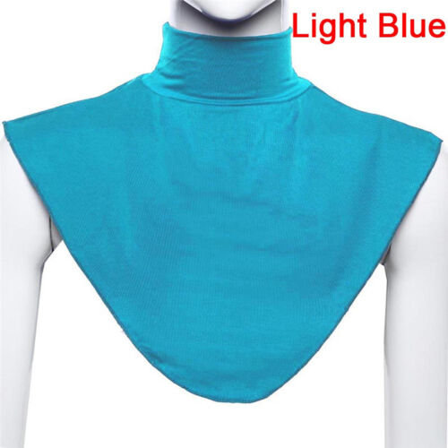 False Collar Hijab Moslem Islamic Pure Color Neck Cover Loop Scarf Charming/_