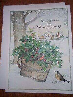 Vintage Christmas Card DBGCI Arlene Noel Pretty Christmas Tree Presents Doll