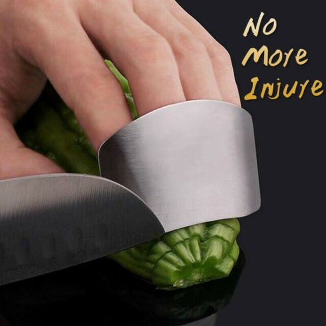 3PC Kitchen Shield Finger Hand Protector Guard Stainless Chop Slice Cook Tool