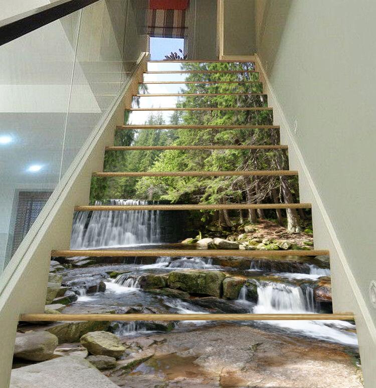 3D Natur Strom 453 Stair Risers Dekoration Fototapete Vinyl Aufkleber Tapete DE