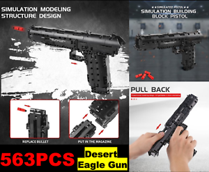 563PCS Desert Eagle Gun Building Blocks Bricks Model Toy Set