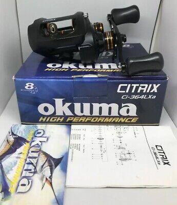 Okuma Citrix 350 Baitcast Reel Lh 7+1BB 6.4:1 14lb//230yd Ci-364LXa