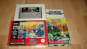 UTOPIA-THE-CREATION-OF-A-NATION-BY-GAMETEK-SNES-GAME-UK-VERSION-USED-COMPLETE