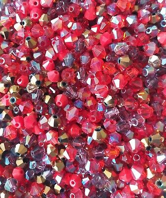 20g Green Bead Mix of Assorted Glass Bicone Beads Mixed Greens approx 280 beads