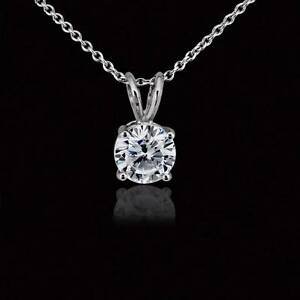 1-Carat-Round-Solitaire-Pendant-Necklace-Cable-Chain-Solid-14k-Real-White-Gold