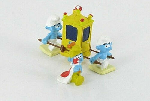 The Schtroumpfissime and Its Chair to Holders N°6 New Figurine Smurf