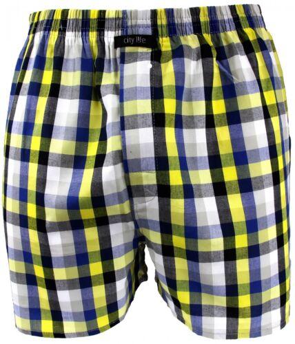 6 x Webboxer calzoncillos boxer Shorts caballero CityLife rojo azul blanco amarillo gris