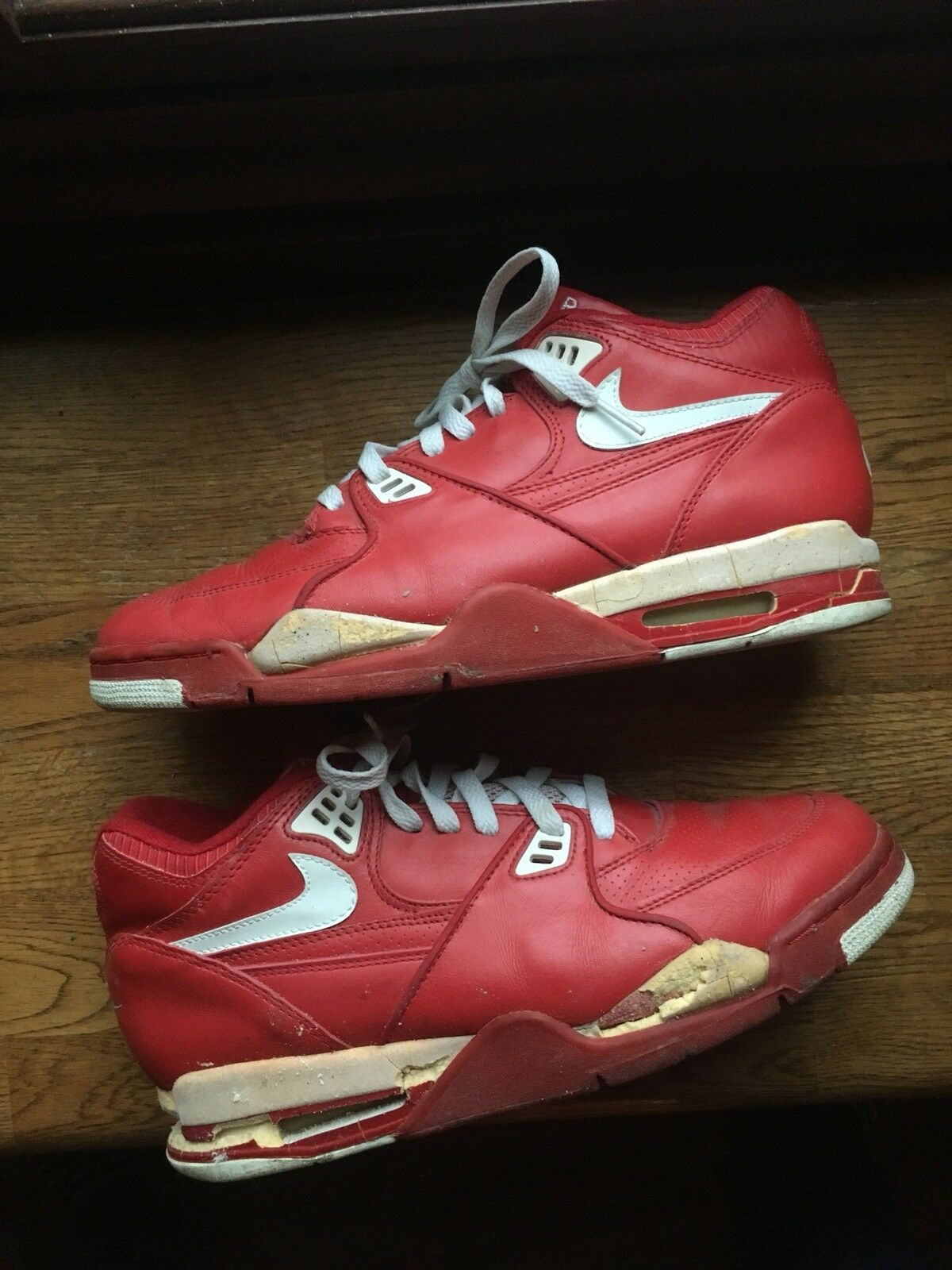 new product df9c8 52eaa 1989 Nike Air Flight Flight Flight 89 Size 10 Red Made In Korea Vintage  Restoration Sneakers
