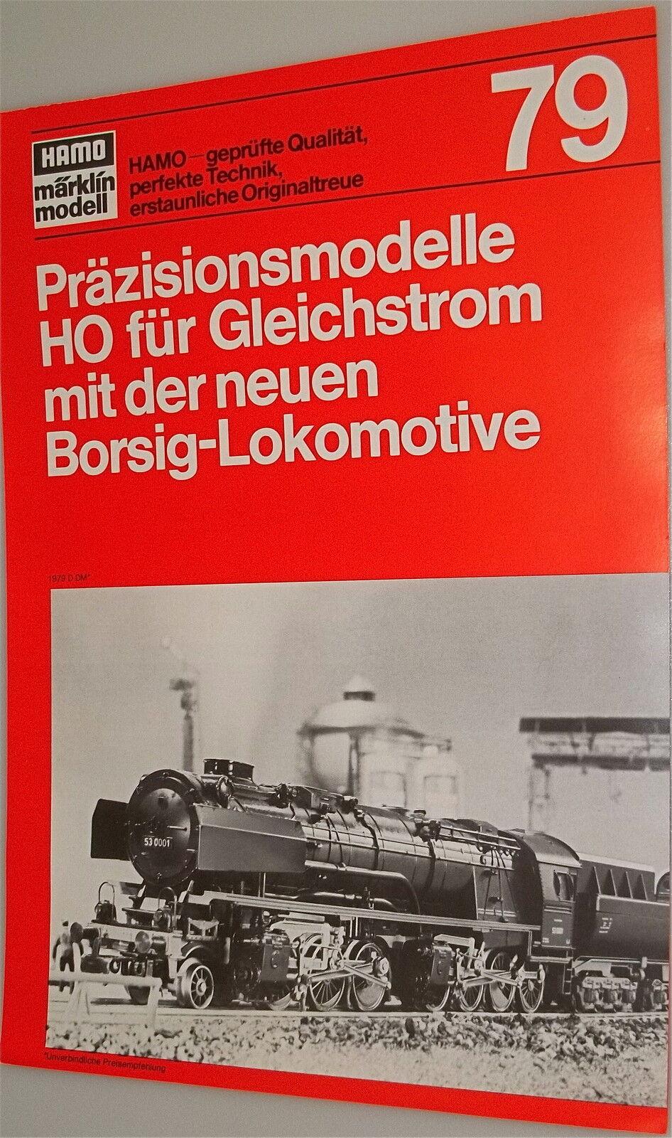 Hamo Katalog Nouvelle Fiche Produit Märklin 1979 Bon Jusqu'à Très Bien