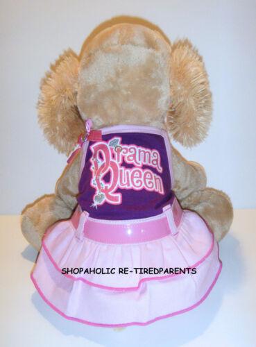"PINK /& PURPLE ""DRAMA QUEEN"" PET DRESS DOG PUPPY CAT SIZE XS NWT $14"