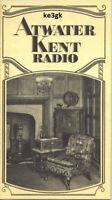 Atwater Kent Radio Vintage Radio Schematics Cdrom Pdf