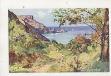 Ansteys Cove Torquay A1301 Edward Hailey Art Colour Postcard 497b