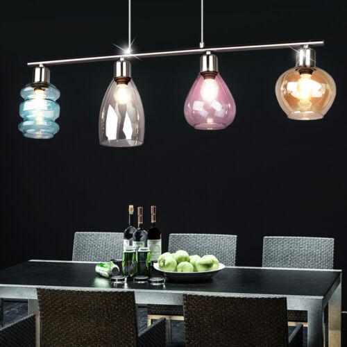 Luxus Pendel Hänge Lampe Wohn Gäste Zimmer Decken Beleuchtung Glas mehrfarbig