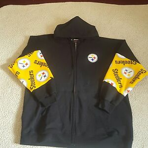5aee9153d9d Image is loading PITTSBURGH-STEELERS-HOODIE-4XL-FULL-ZIP-OR-PULLOVER