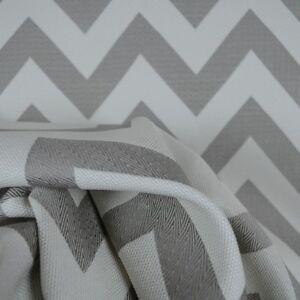 Image Is Loading Grey Chevron Zig Zag Upholstery Fabric Chic Quartz