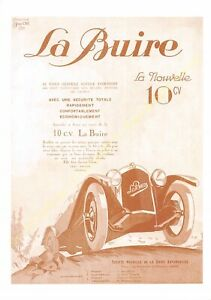 Sepia Postcard Ads Advertising Automobile La Buire Edit 3615 PUB3
