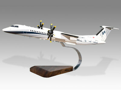 Able De Havilland Dash 8 400 Skywork Airlines Solid Dry Wood Handmade Desktop Model Mild And Mellow