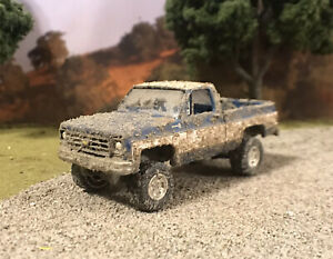 1978-Chevy-K10-Square-Body-4x4-Truck-Custom-1-64-Diecast-4WD-Mudder-Mud-Bog