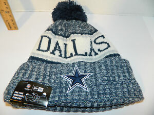 77500e65607 Dallas Cowboys Knit NFL New Era Hat Winter Pom Beanie Knit Cap ...
