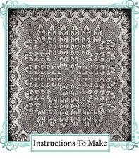 Vintage knitting pattern-instructions to make lace baby christening shawl
