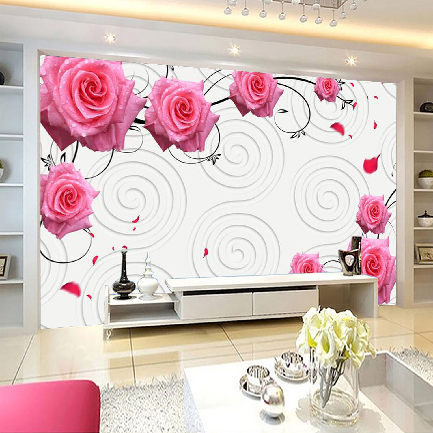 3D Pink pinks 4224 Wall Paper Wall Print Decal Wall Deco Indoor Wall Murals