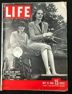 LIFE MAGAZINE - July 22 1946 - LONG ISLAND SOCIETY / Weapons Testing / Negro Art