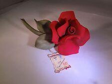 Capodimonte Red Rose Figurine   G-367