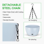 thumbnail 5 - GROWNEER 2 Packs 9.4 Inches Plastic Hanging Planter Self Watering Basket with 6