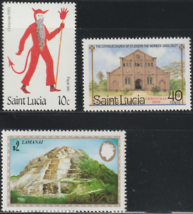 (RX1)MINT STAMPS 3V CHRISTMAS CHURCH ETC FACE VALUE RM 4.70+