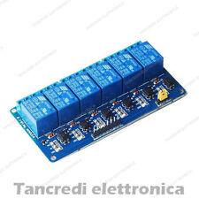 Modulo scheda a 6 relè relay canali optoisolati 250V 10A 5Vdc 5V arduino shield
