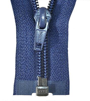 Reißverschluss 5 mm  Spirale marine blau 2 marine blau Schiebern bis 200 cm