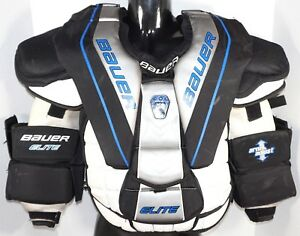 Bauer Elite Intermediate Medium Goalie Chest Arm Pad Protector Ice