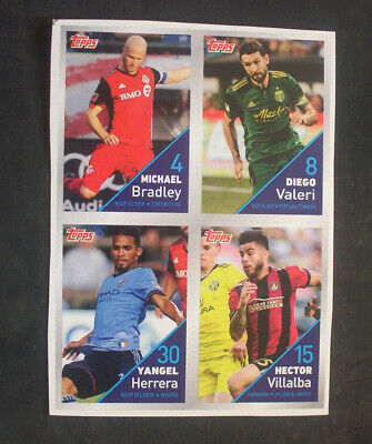 2018 Topps Post Mls Soccer Cards 6 Uncut 4 Card Panels Ebay