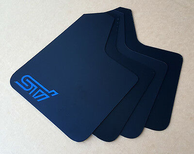 SALE STARTER Mud Flaps Set BLUE with Custom Vinyl WHITE Logo A SR