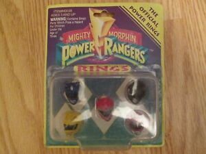 Mighty Morphin Power Rangers SEALED Rings - 1993 1st Set - Vintage