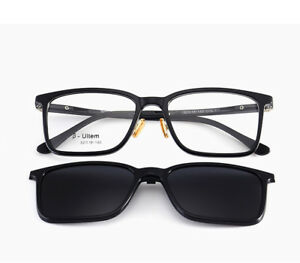 a46608adb0 Image is loading Clip-On-Polarized-Sunglasses-Magnetic-Eyeglass-Frames-RX-